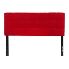 Flash Furniture Bedford Tufted Full Panel Headboard In Red