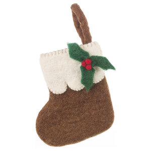 Felt So Good Mini Christmas Stocking, Pudding