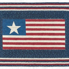 Earth Rugs American Flag Oblong Patch 20 X30 Area