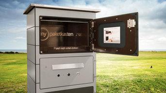 Paketkasten mit Türkommunikationssystem