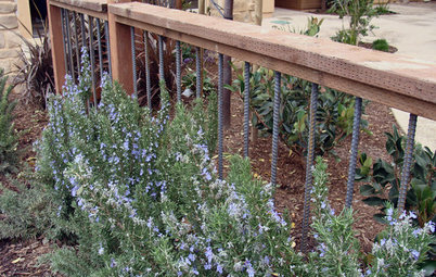 9 Imaginative Ideas for Industrial Rebar in the Garden