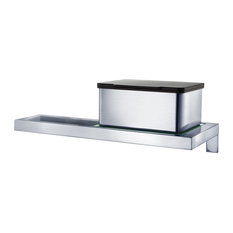 Menoto Wall Mounted Toilet Paper Holder With Glass Shelf
