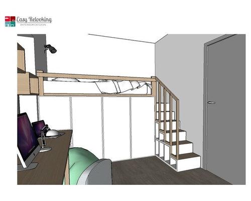 Progetto di una cameretta con letto a soppalco - Progetto letto a soppalco ...