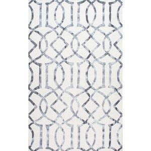 Handmade Lattice Trellis Area Rug, 6'x9'
