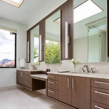 Downtown Bellevue Custom Home   Primary Bathroom