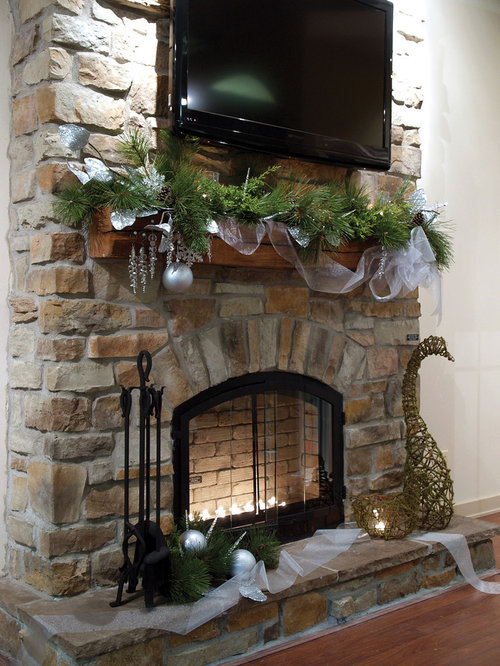 Faux Stone Fireplace Ideas, Pictures, Remodel and Decor