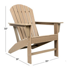 White Resin Traditional Adirondack Chair, Brown