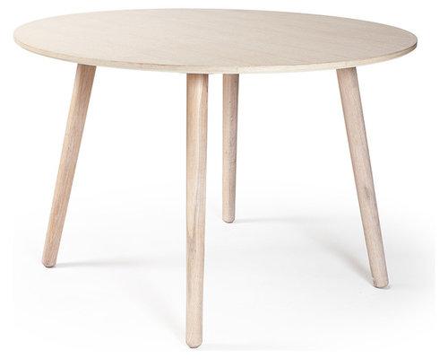 Ray Matbord Ø 110 cm, Vitpigmenterad Ek - Spiseborde