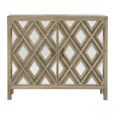 Tahira Contemporary Mirrored Accent Cabinet