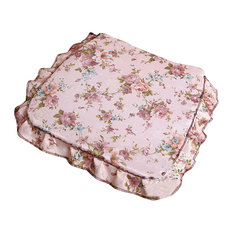 Pastoral Chair Cushion With Anti-Skid Can Unpick Wash Flower Floral, C
