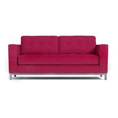 Fillmore Apartment Size Sleeper Sofa, Innerspring Mattress, Pink Lemonade