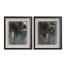 Rustic Patina Framed Prints, 2-Piece Set