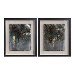 Rustic Patina Framed Prints, 2-Piece Set