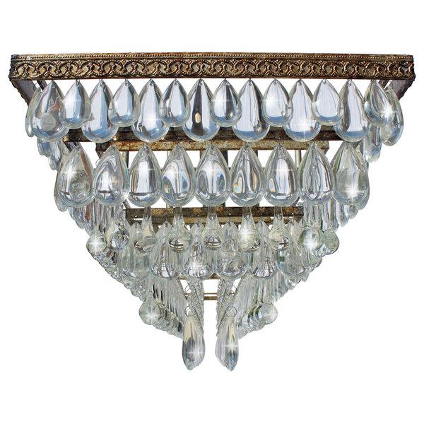 Weston Rectangular Glass Drop Chandelier