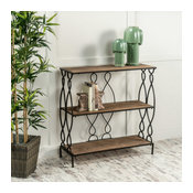 GDF Studio Varcan White Rusty Firwood Bookcase