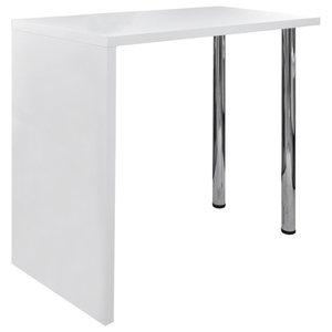 VidaXL High Gloss Bar Coffee Table Dining With 2 Legs, White
