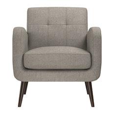 Kenneth Mid Century Modern Arm Chair, Heather Gray