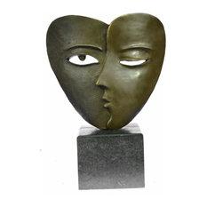 Signed Salvador Dali Abstract Girl Hush Up Bronze Sculpture Modern Art Figurine