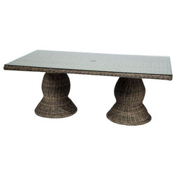 Tropical Outdoor Dining Tables by Burroughs Hardwoods Inc.
