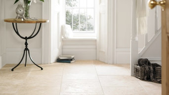 Travertine Classic filled and honed tiles - Brighton