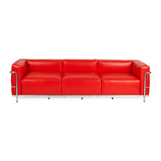 Roche 3 Seater Sofa, Red, Material: Aniline Leather   Sofas