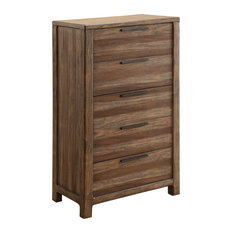 Morris Rustic Style Natural Tone 5-Drawer Chest