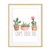 """Can't Touch This"" Succulent Print, 11""x14"""