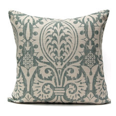 Medieval Damask Pillow, Oyster Bay