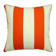 """Sunbrella Cabana Flame Indoor/Outdoor Pillow, 18""""x18"""""""