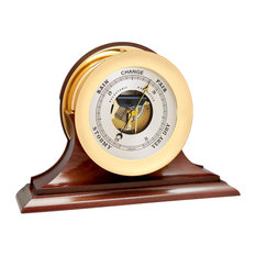 "8.5"" Chelsea Ship's Bell Barometer in Brass on Traditional Base"