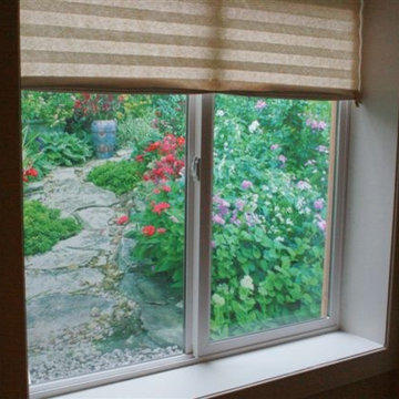Garden Window Well Scenes brings in the natural light during the daytime