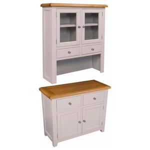 Ventry 2-Drawer Storage Unit, Sideboard Plus Hutch