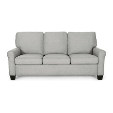 GDF Studio Bridget Traditional 3-Seater Sofa Gray/Dark Brown
