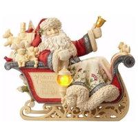 Enesco Masterpiece Santa With Sleigh Figurine