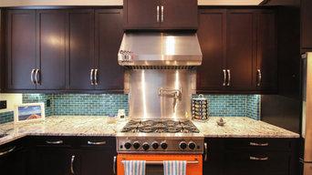 Turquoise Tile Kitchen