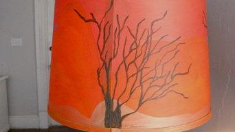 mesquite(ish)  lampshade commission