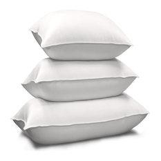 1000 TC Egyptian Cotton Cover Siberian White Down Pillow King White