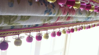 Interlined roman blinds and padded pelmet