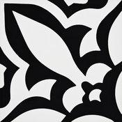 """8""""x8"""" Meknes Handmade Cement Tile, Black/White, Set of 12"""