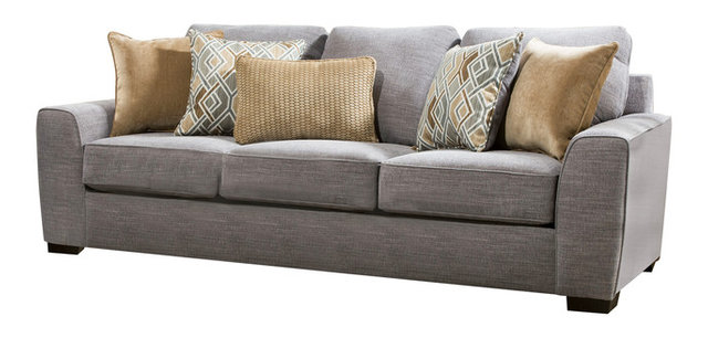 Simmons Upholstery Pompeii Silver Sofa