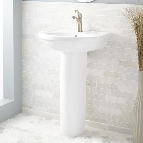 ALAMILDA PORCELAIN PEDESTAL SINK   Bathroom Sinks
