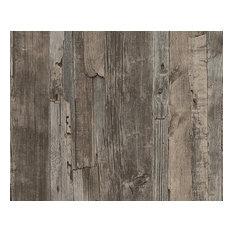Modern Non-Woven Wallpaper For Accent Wall - 954051 Wood Wallpaper, Sample