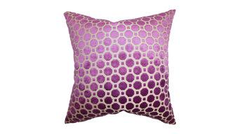 Kostya Geometric Velvet Pillow in Magenta