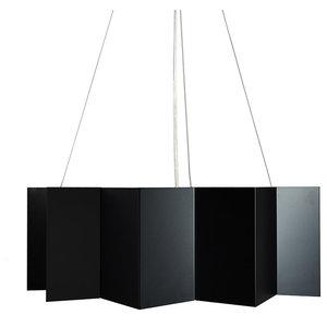 Deep Angular Steel Pendant Lamp, Black