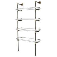 Sacramento DIY Industrial Bookcase Metal Frame Pipe Furniture Kit, Brushed Brass
