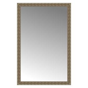 """39""""x59"""" Custom Framed Mirror, Distressed Silver"""