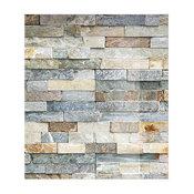 Grey Brick Glass Splashback, 60x60 cm