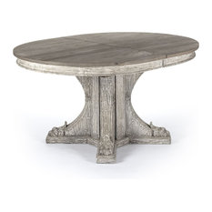 Zentique - Agnes French Country Rustic Oval Extendable Dining Table - Dining Tables