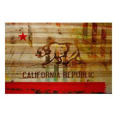 """""""Cali"""" Print on Wood by Parvez Taj, 100x70 cm"""