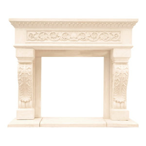Awesome Chateau Series Jordana Cast Stone Fireplace Mantel Home Interior And Landscaping Elinuenasavecom